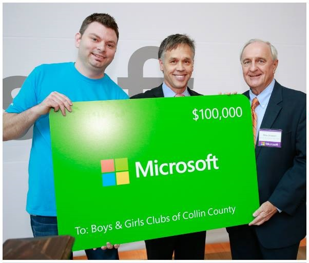 Microsoft $100,000 Grant Received