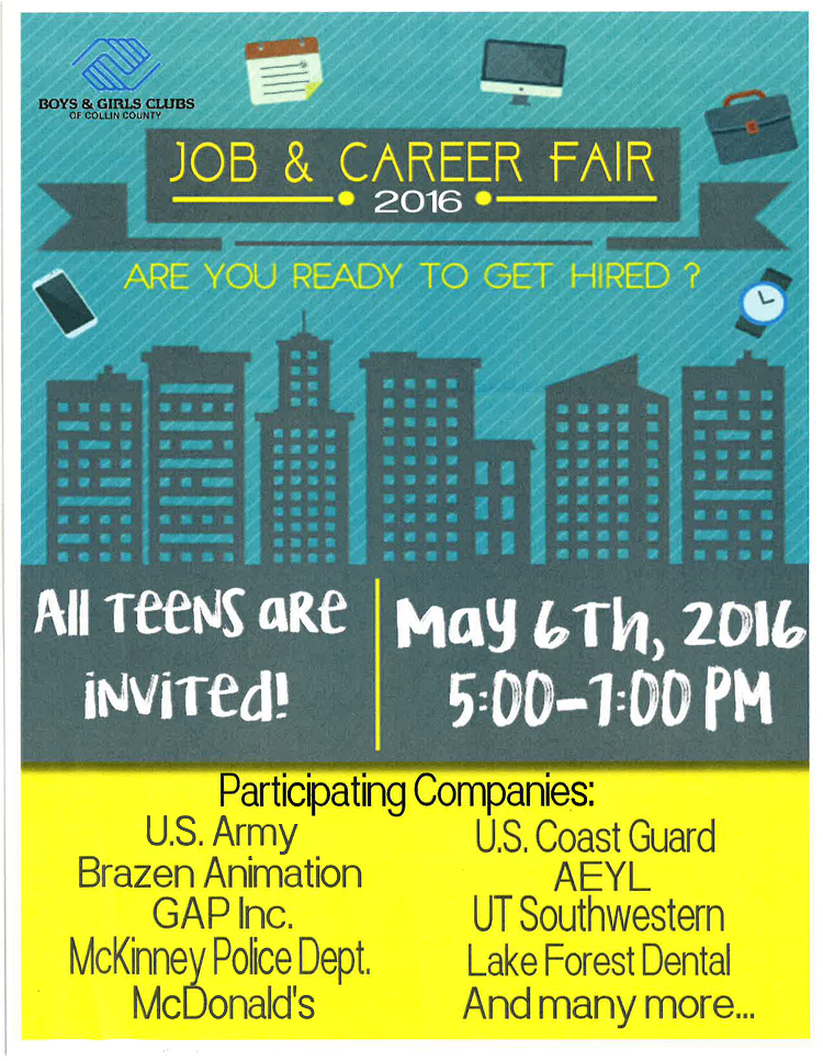 mckinney branch job fair boys girls clubs of collin county
